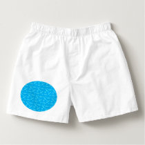 Sky blue bobsled pattern boxers