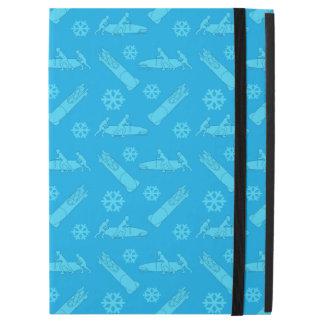"Sky blue bobsled pattern iPad pro 12.9"" case"