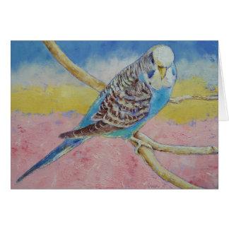 Sky Blue Budgie Card