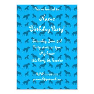 Sky blue bulldog pattern 5x7 paper invitation card