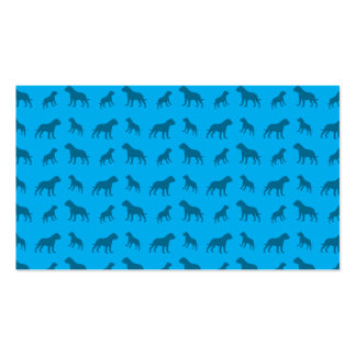 Sky blue bulldog pattern Double-Sided standard business cards (Pack of 100)