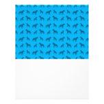 Sky blue bulldog pattern flyers
