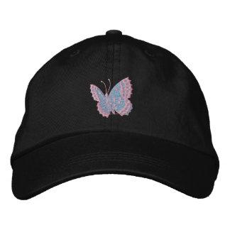 Sky Blue Butterfly Emboirdered Cap
