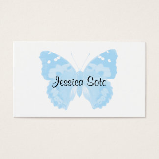 Sky Blue Butterfly Personalized Business Cards