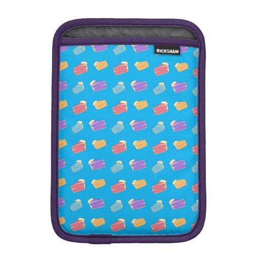 Sky blue cake pattern iPad mini sleeve
