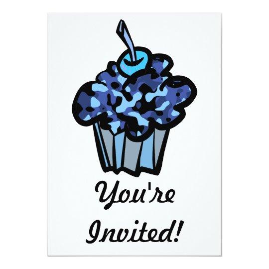 sky blue camouflage cupcake card