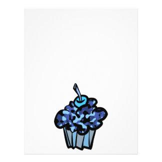 sky blue camouflage cupcake flyer