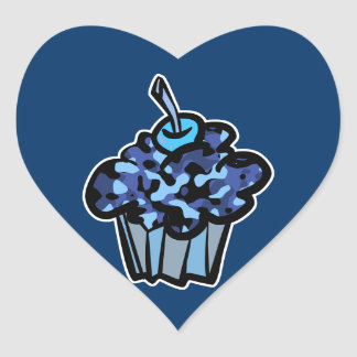 sky blue camouflage cupcake sticker