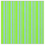 [ Thumbnail: Sky Blue & Chartreuse Colored Pattern Fabric ]