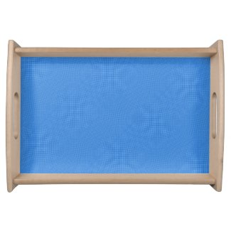 Sky Blue Check Serving Tray