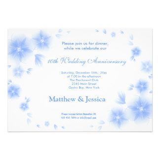 Sky Blue Cherry Blossom Anniversary Custom Invites