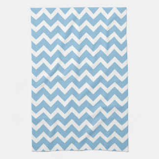 Sky Blue Chevron Kitchen Towel