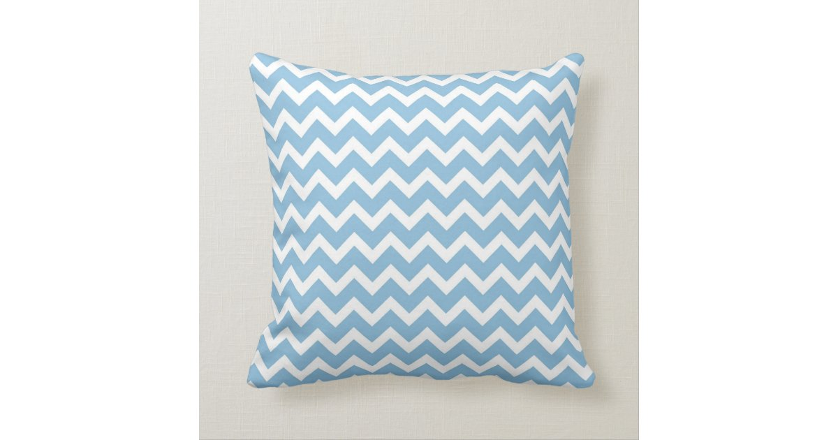 Sky Blue Decorative Pillows : Sky Blue Chevron Throw Pillow Zazzle