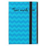 Sky blue chevrons iPad mini case