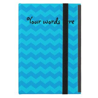Sky blue chevrons iPad mini covers