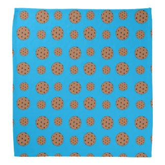 Sky blue chocolate chip cookies pattern bandana