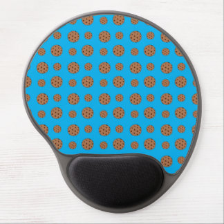Sky blue chocolate chip cookies pattern gel mouse pad