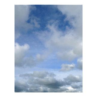 sky. Blue cloudy sky Letterhead