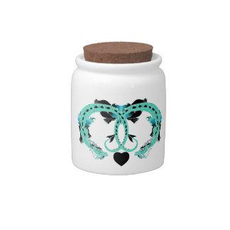 Sky Blue Coiled Dragon Candy Jar