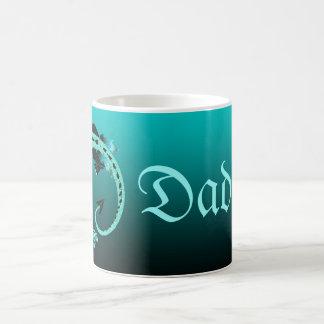 Sky Blue Coiled Dragon Coffee Mug