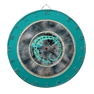 Sky Blue Coiled Dragon Dart Boards