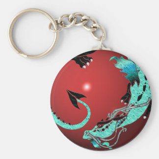 Sky Blue Coiled Dragon Key Chains