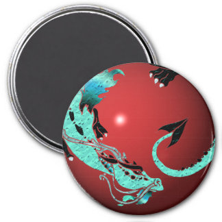 Sky Blue Coiled Dragon Magnet