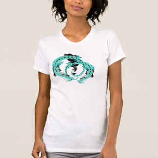 Sky Blue Coiled Dragon Shirts