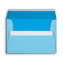 Sky Blue Color Accent Customize it Easily Envelope