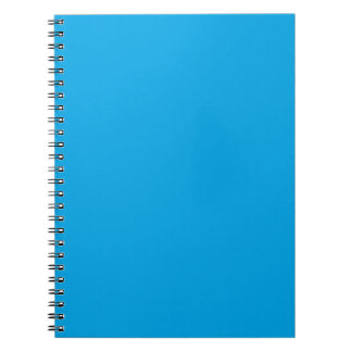 Sky Blue Color Background Customize it Easily Spiral Note Book