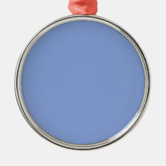 Sky Blue Color Premium Round Metal Ornament