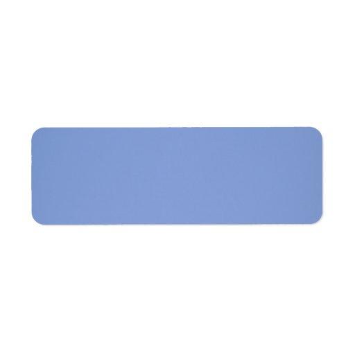 Sky blue color return address label zazzle for Colored mailing labels