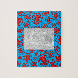 Sky blue crab pattern jigsaw puzzle