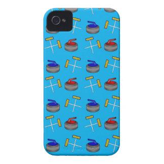 sky blue curling pattern iPhone 4 Case-Mate case