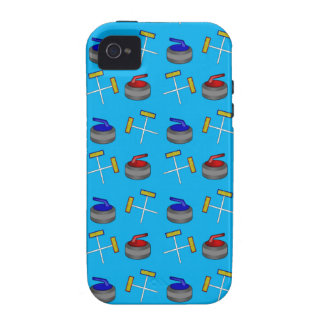 sky blue curling pattern vibe iPhone 4 case