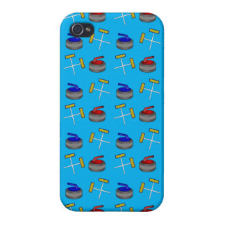 sky blue curling pattern iPhone 4/4S cases