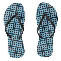 Sky Blue Cute Modern Trendy Pattern Flip Flops