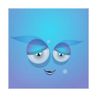 Sky Blue Cutie Bubble Canvas Print