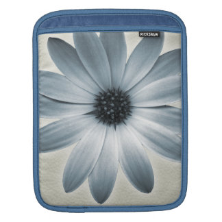 Sky Blue Daisy on Stone Leather Print Sleeve For iPads