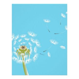 Sky Blue dandelion floral nature Letterhead
