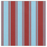 [ Thumbnail: Sky Blue & Dark Red Colored Stripes Pattern Fabric ]