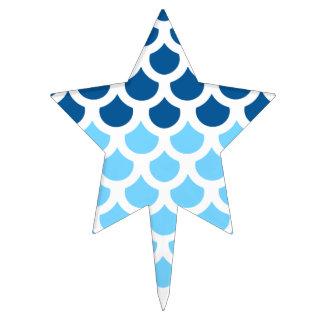 Sky Blue/ Deep Ocean Fish Scale 2 Cake Topper