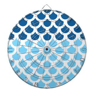 Sky Blue/ Deep Ocean Fish Scale 2 Dartboard With Darts
