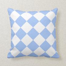 Sky Blue Diamond Pattern Throw Pillows