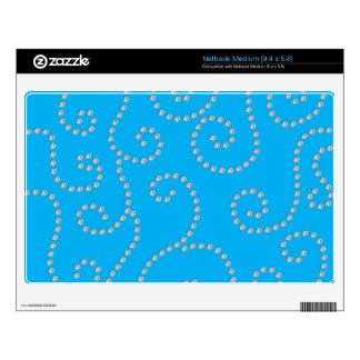 sky blue diamond swirls decals for netbooks