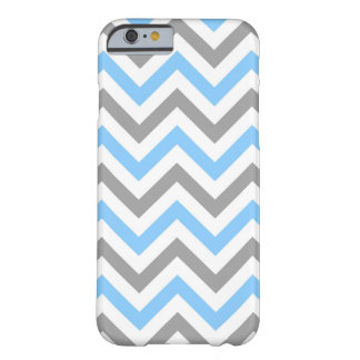 Sky Blue, Dk Gray Wht Large Chevron ZigZag Pattern Barely There iPhone 6 Case