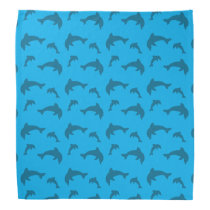 Sky blue dolphin pattern bandana