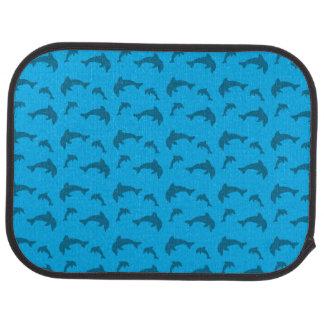 Sky blue dolphin pattern car floor mat