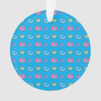 Sky blue donut pattern