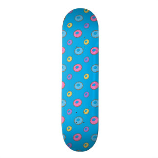 Sky blue donut pattern skateboard